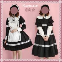 Pumpkin Cat Lolita ~Classical Dolls Lolita OP -Ready Made