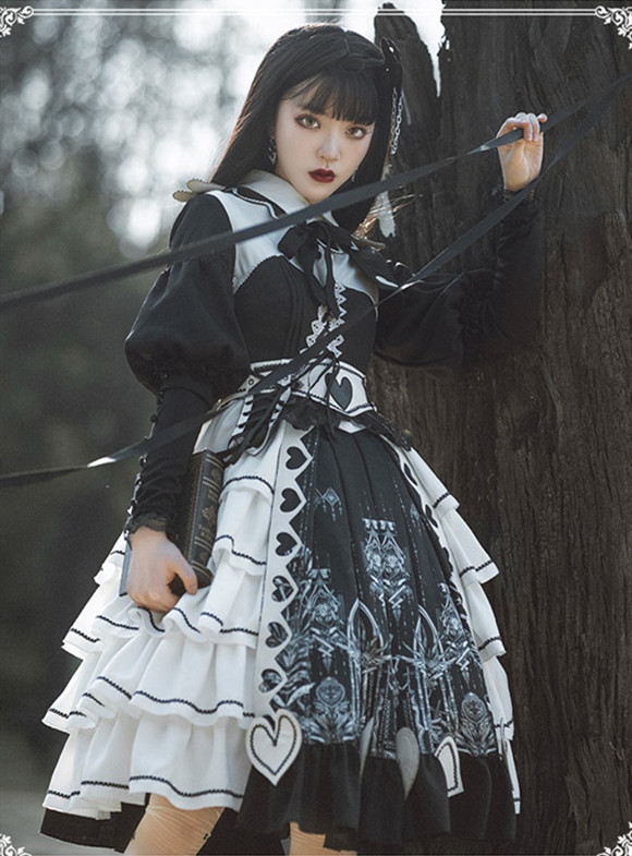 Eye of the Red Heart Vintage Lolita OP -Pre-order