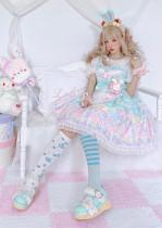CCat Rainbow Doll House Sweet Lolita JSK -Pre-order