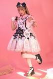 CCat Rainbow Doll House Sweet Lolita Salopette - Blue Size S + Headbow - In Stock