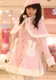 Pink Kawaii Bunny Cape Jacket + Cape - IN STOCK