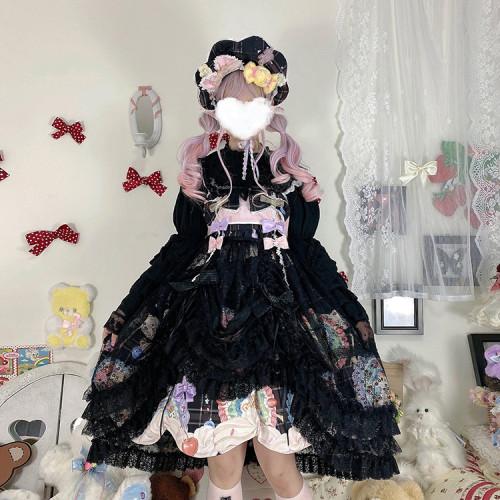 Cream Cake Kimono Style Lolita Coat/Blouse/Overskirt