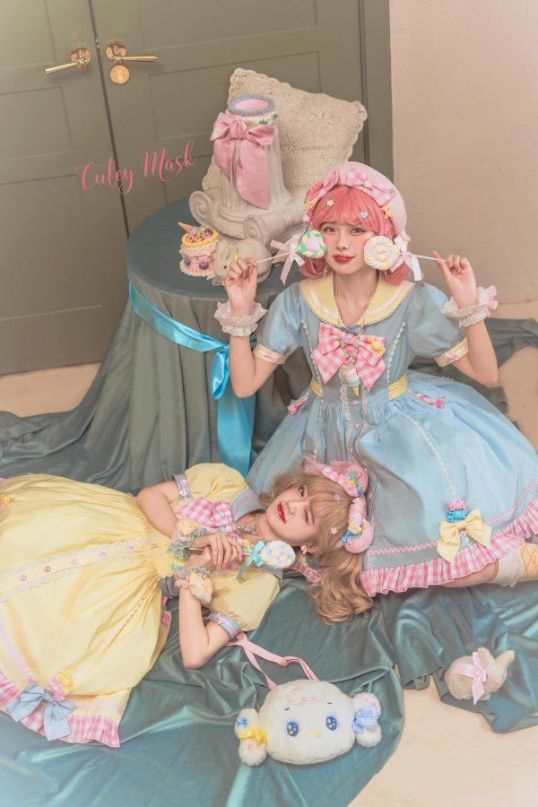 Cutey Mask Lolita ~Little Navy Lolita OP -Ready Made