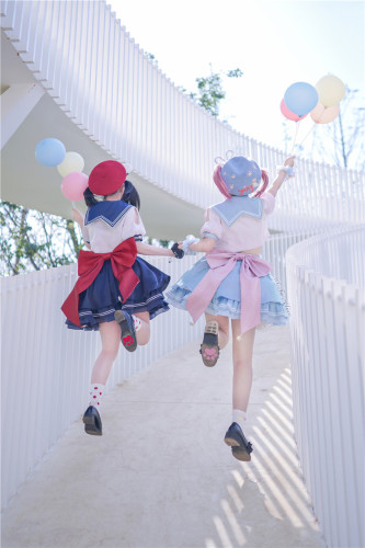 Tommy Bear ~Stargirl Sailor Style Lolita Top + Skirt Set -Pre-order