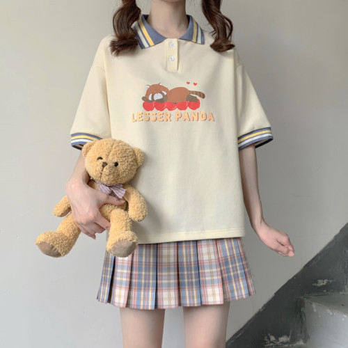 Noodle Snack Long Sleeves Polo T-shirt