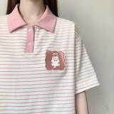 Forest Amusement Park Cartoon Embroidery T-shirt