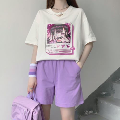 Cartoon Prints Loose T-shirt