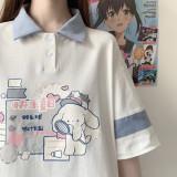 Summer Plan Cartoon Prints T-shirt