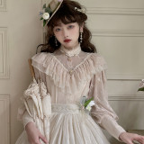 Miss Point ~Tulipa Vintage Lolita Blouse -Pre-order