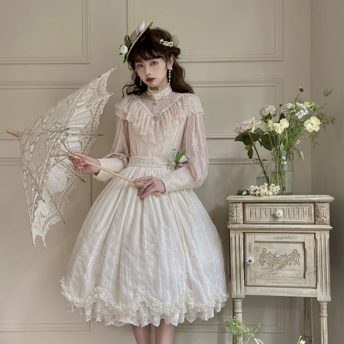 Miss Point ~Tulipa Vintage Lolita Skirt -Pre-order