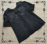 Night Rose Heavy Embroidery Lolita Blouse -Pre-order