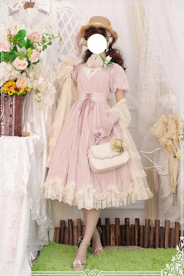 Miss Point ~Tulipa Vintage Lolita OP Short/Long Version -Pre-order