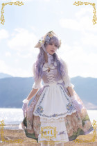 CEL Lolita ~To Alice Oil Painting Printed Lolita JSK -Pre-order