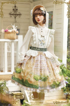 CEL Lolita ~To Alice Oil Painting Printed Lolita Salopette -Pre-order