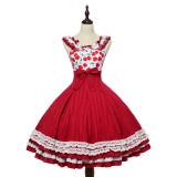 Magic Tea Party ~Cherry Tea Party Normal Waist Lolita JSK -Pre-order