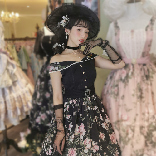 Miss Point ~French Rose Classic Lolita JSK -Pre-order