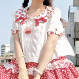 Magic Tea Party ~Cherry Tea Party Lolita Blouse -Pre-order