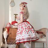 Magic Tea Party ~Cherry Tea Party Fake Two Pieces Lolita OP -Pre-order