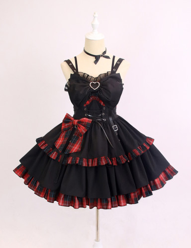 Alice Girl ~Little Hottie Plaid Lolita Jumper -Pre-order