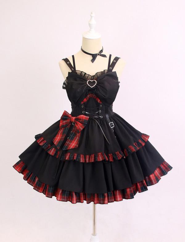Alice Girl ~Little Hottie Plaid Lolita Jumper -Pre-order