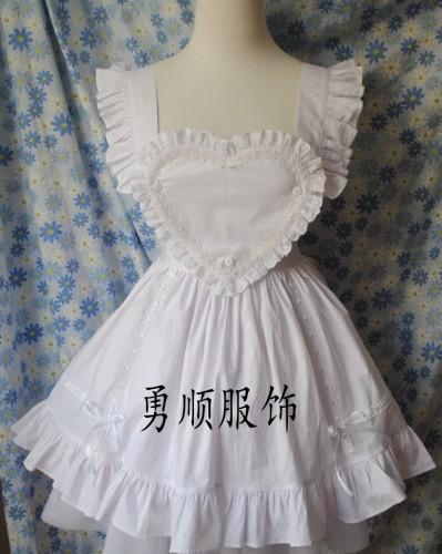 White Maid Lolita Apron
