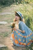 Vcastle ~The Little Orange High Waist Lolita OP -Pre-order
