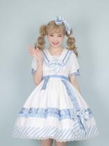 Alice Girl ~Summer Letter Embroidered Letter Gift Box Lolita OP -Pre-order