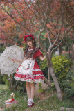 Tommy Bear ~Little Red Riding Hood Lolita OP + Apron Set -Pre-order