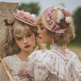 Miss Point ~The Beauty of Spring Retro Edward Lolita Hat -Pre-order