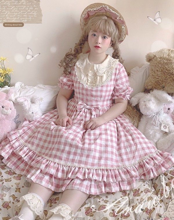 Strawberry Witch Summer Embroidery Lolita OP -Pre-order