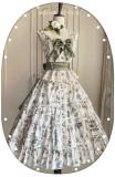 Moon River ~Camellia Vintage Flowers Lolita Vest/Skirt -Pre-order