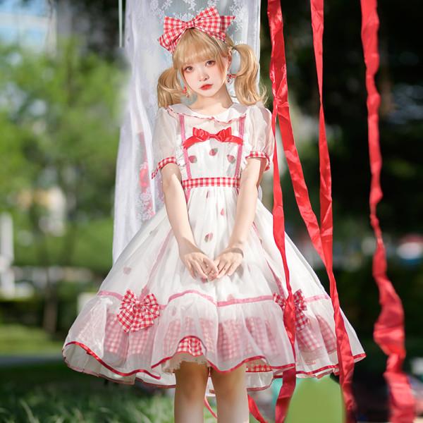 Strawberry Them Sweet Lolita Short Sleeves OP