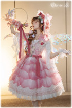 Elpress L ~Flower Petals Roses Elegant Lolita JSK -Pre-order