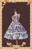 Infanta ~Flowers Wall Cotton Normal Waist Lolita JSK -Pre-order