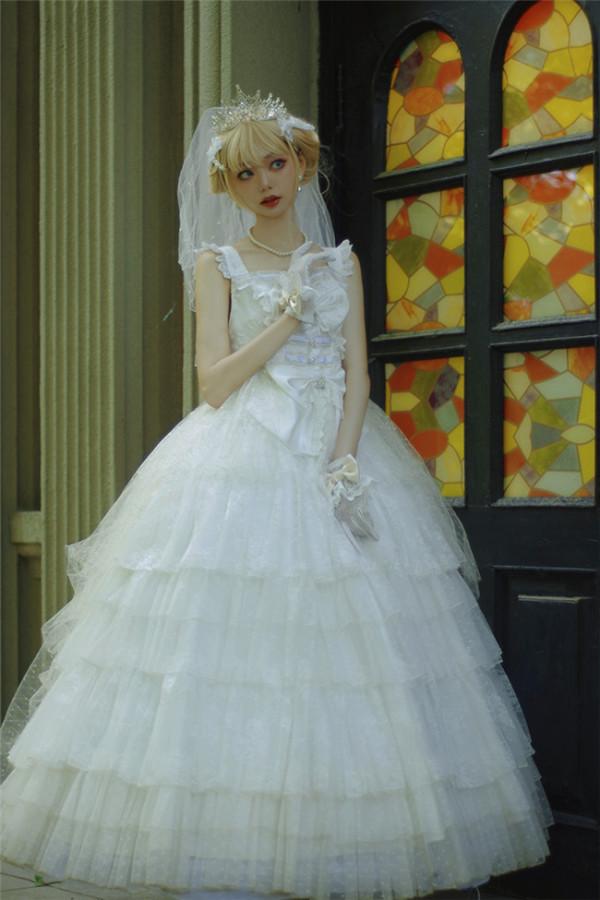 Soufflesong Lolita ~Fall Into Dream Bridal Lolita JSK -Pre-order