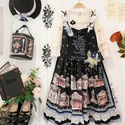 Magic Tea Party ~Box of the Theatre Normal Waist Lolita JSK -Pre-order