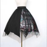 Silent Redemption Gothic Lolita Skirt + Vest + Blouse Set