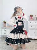 Alice Girl ~Rabbit Strawberry Lolita Salopette -Pre-order