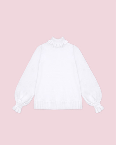Tommy Bear ~ Pure Color All-match Turtleneck Sweater - In Stock