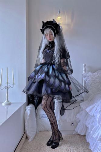 Night Elf ~Vintage Normal Waist Gothic Lolita JSK -Pre-order