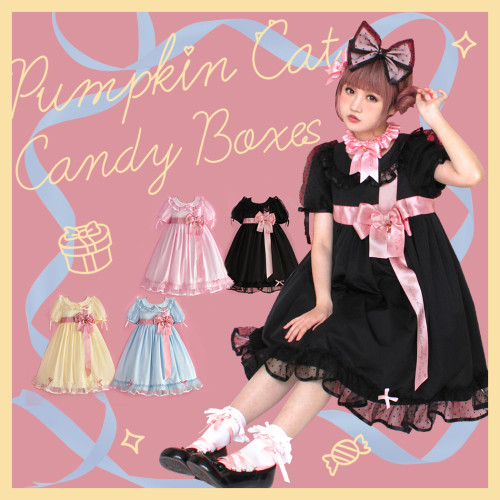 Pumpkin Cat ~Candy Boxes Sweet Lolita OP -Pre-order