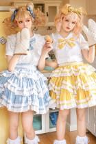 With Puji ~Summer Soda Classic Tiered Lolita Salopette