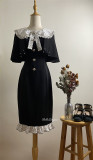 Belle Langue  ~Whispers of Love Vintage Dailywear Lolita OP with Cape -Pre-order