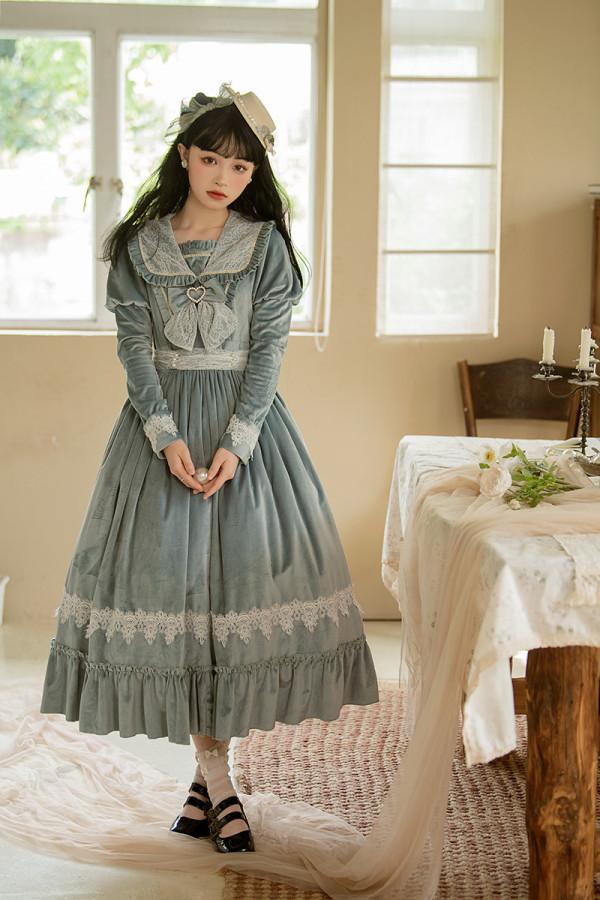 Alice Girl ~The Memory of Afternoon Long Sleeves Lolita OP -Pre-order