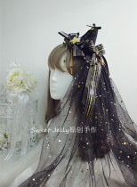 Sweet Jelly Lolita Halloween Lolita Hat with Fixed Veil
