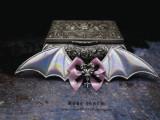 Rose Thorn Bat Cross Lolita Hairclip/Brooch