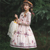 Miss Point ~Chocolate Daily Lolita Long Sleeves OP -Pre-order