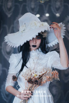 Rose Pearl Halloween Lolita Witch Hat