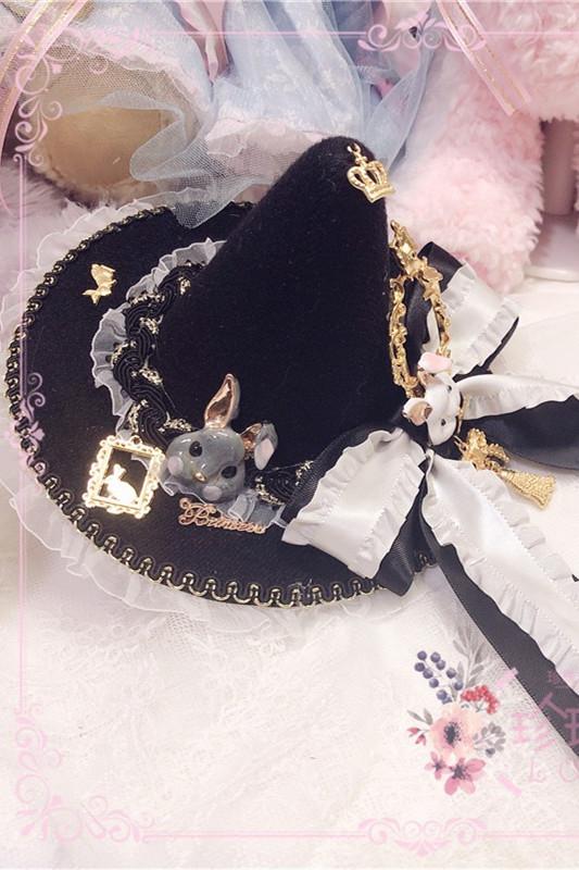 Hand-made Frame Rabbit Witch Lolita Hat