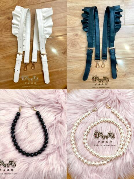Boguta Bow Shaped Lolita Bag 2 Wear Ways Accessories